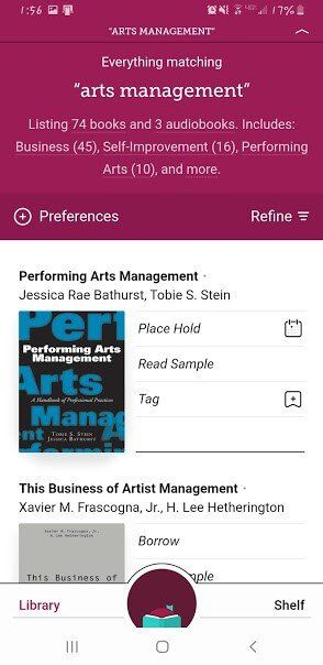 libby app screenshot Entrepreneur app 5