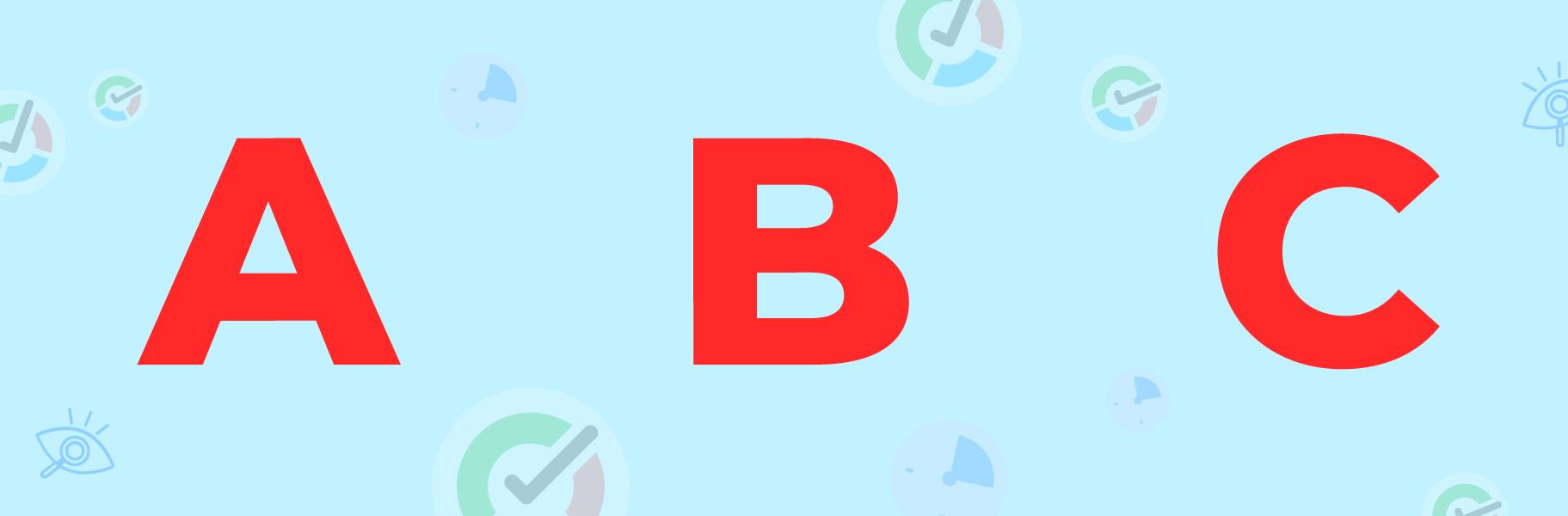 a b c letters image