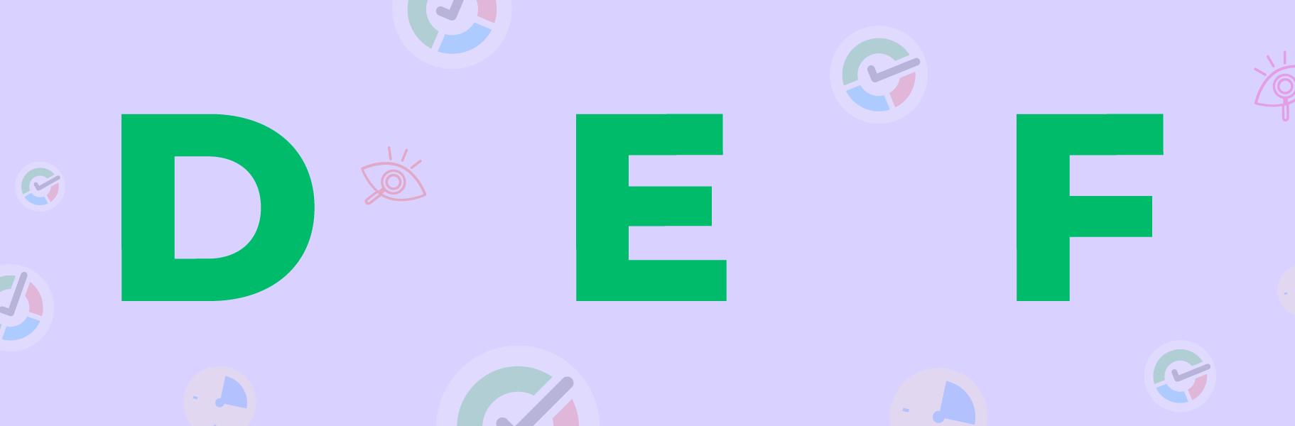d e f letters image