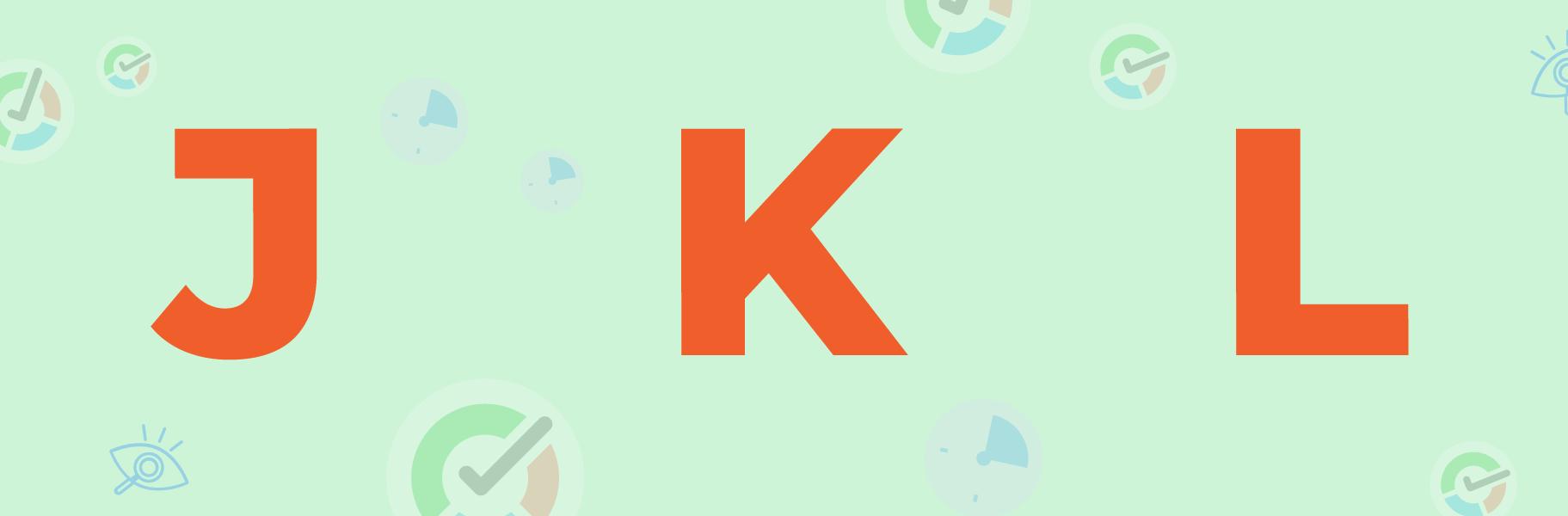j k l letters image