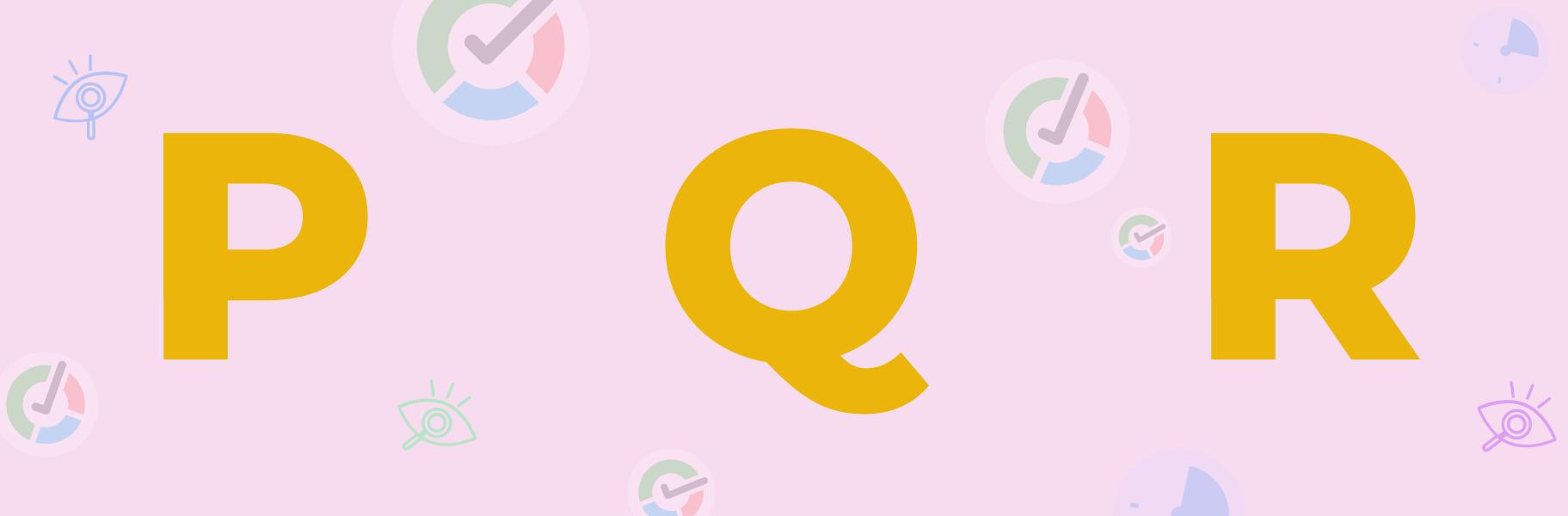 p q r letters image