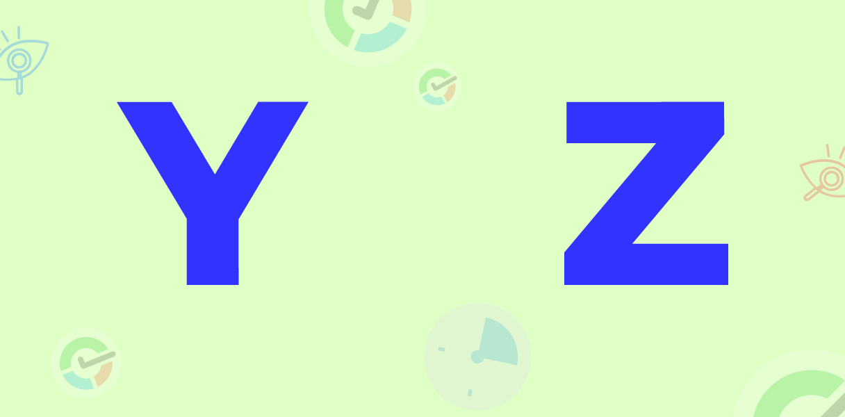 y z letters image