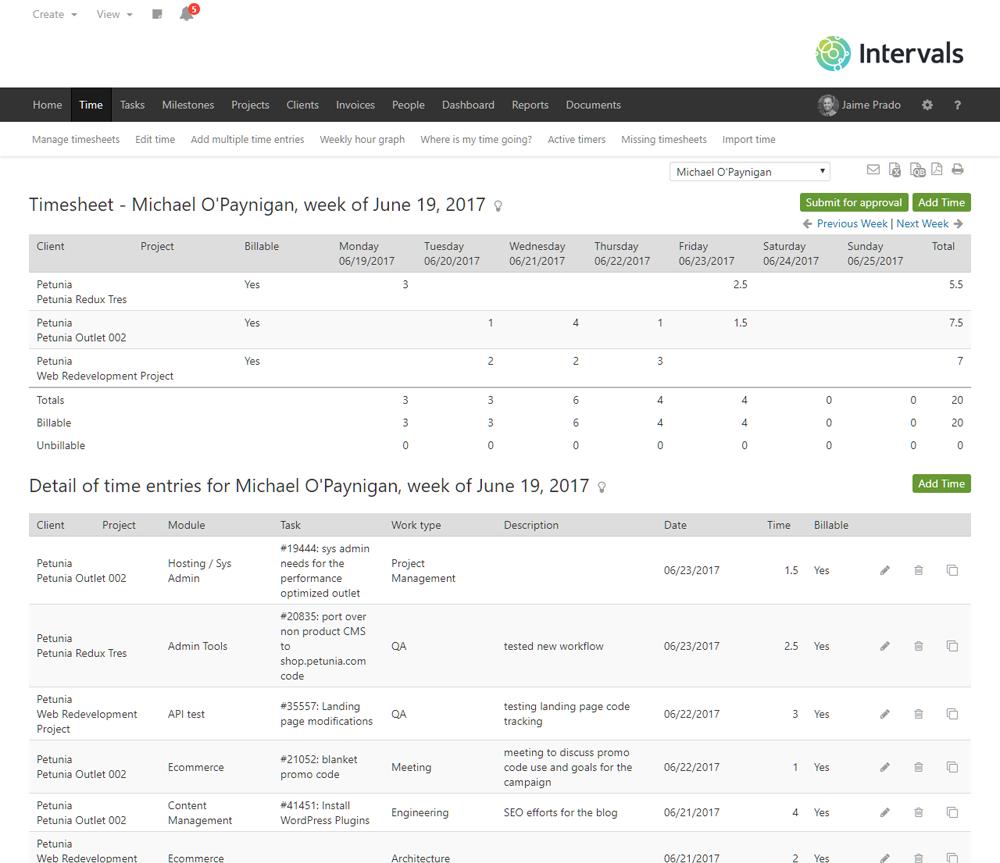 intervals screenshot
