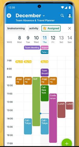 teamup app screenshot