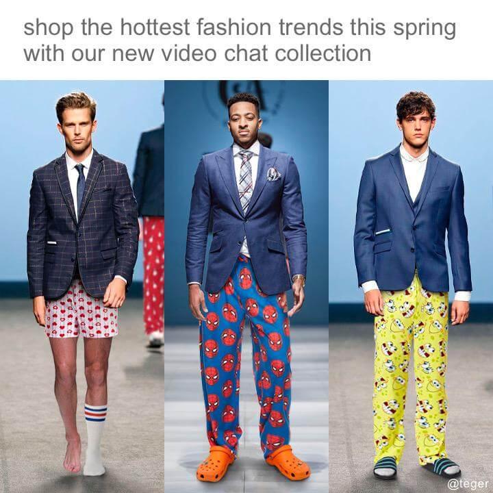 instagram post on men fashion parody