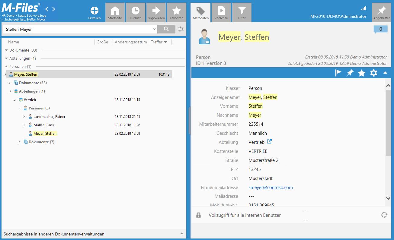 m-files screenshot