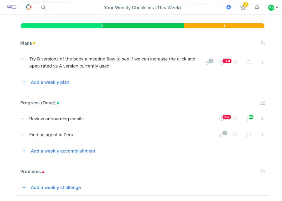 Weekdone interface