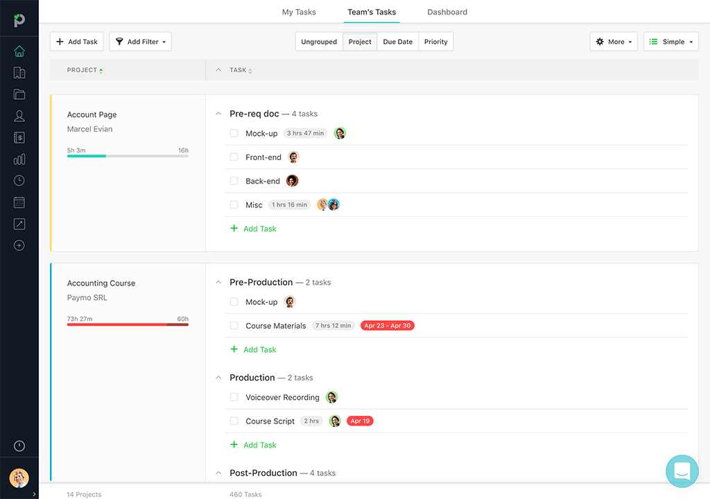 Paymo Interface
