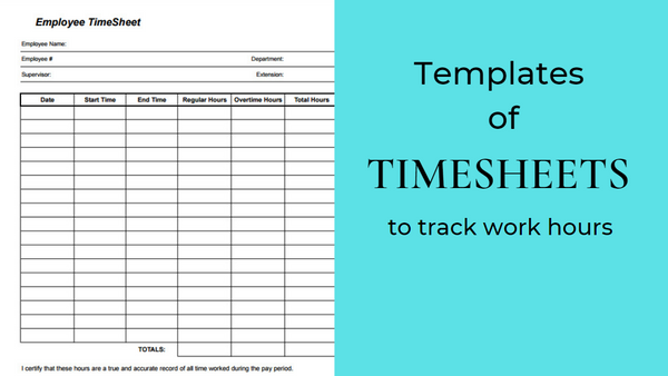 10 Best Timesheet Templates to Track Work Hours